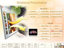 Visually Interactive PowerPoint presentation slide