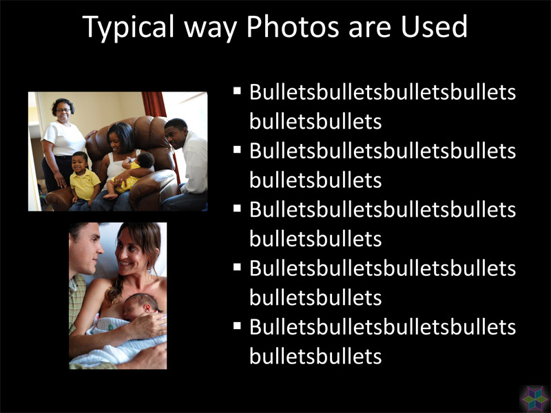 PowerPoint pictures big and bold on slides