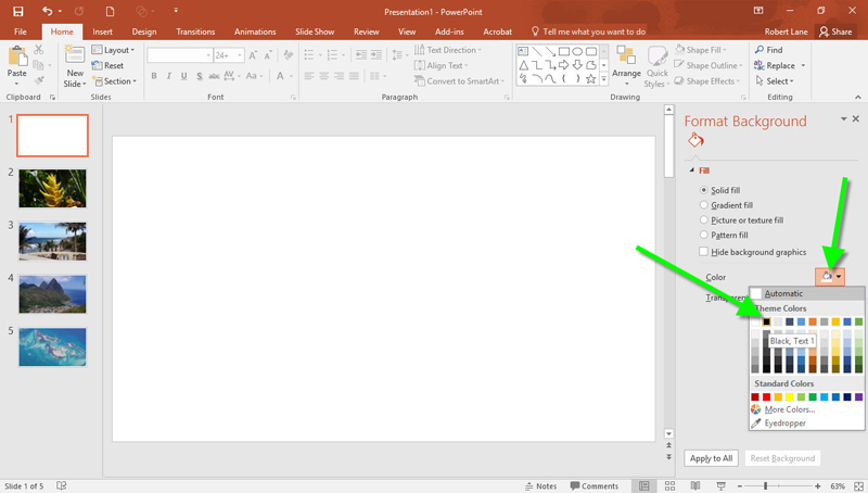 PowerPoint free tutorial navigation showcase